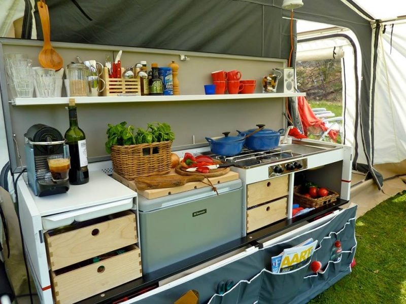 Combi camp country keuken vouwwagen combi camp