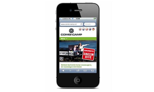 Combi-Camp website nu ook op de mobiel