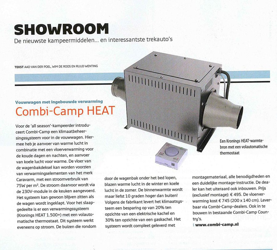 combi-camp vouwwagen HEAT