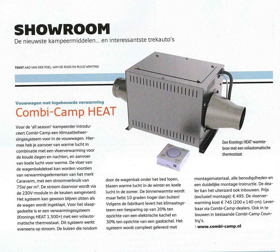 Combi-Camp vouwwagen met Heat