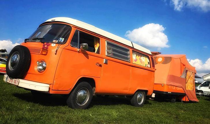 Oranje Combi-Camp vouwwagen kopen