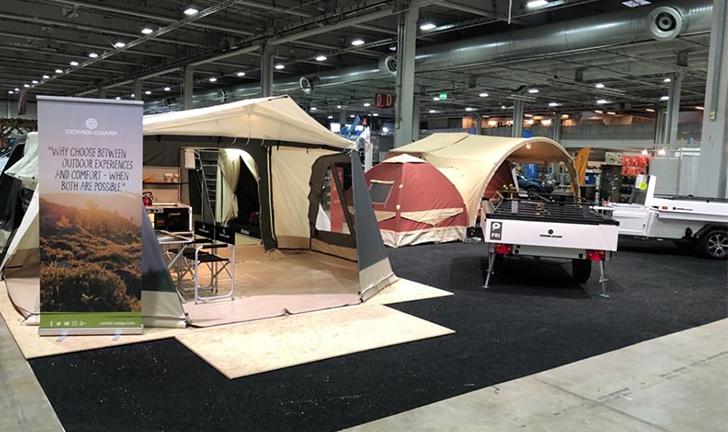Combi-Camp vouwwagens op beurs Noorwegen
