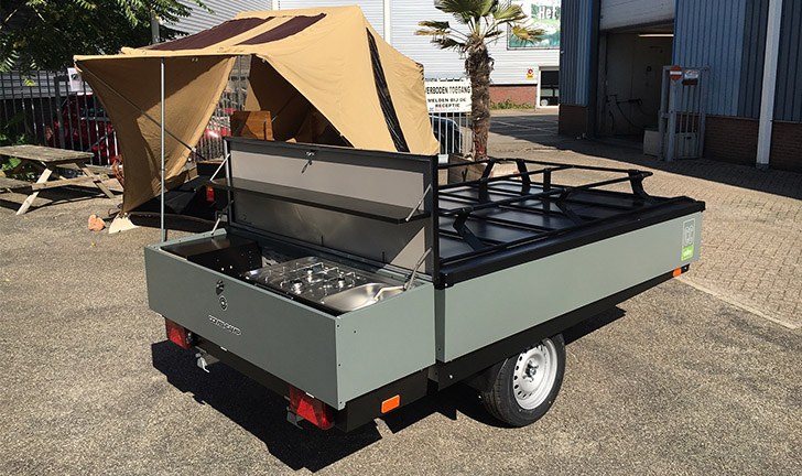 Grijze Combi-Camp Valley Xtra Nordic vouwwagen in Heemstede