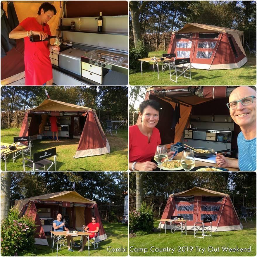 Combi-Camp Country vouwwagen op de camping in Sneek