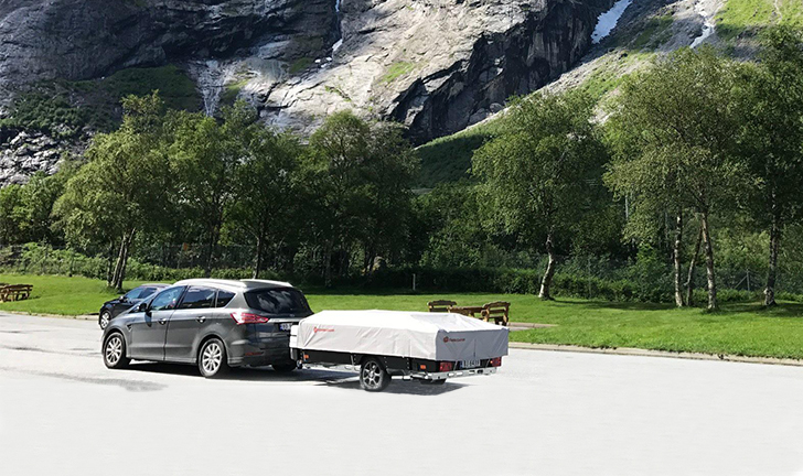 Combi-Camp FLEXI vouwwagen in de bergen