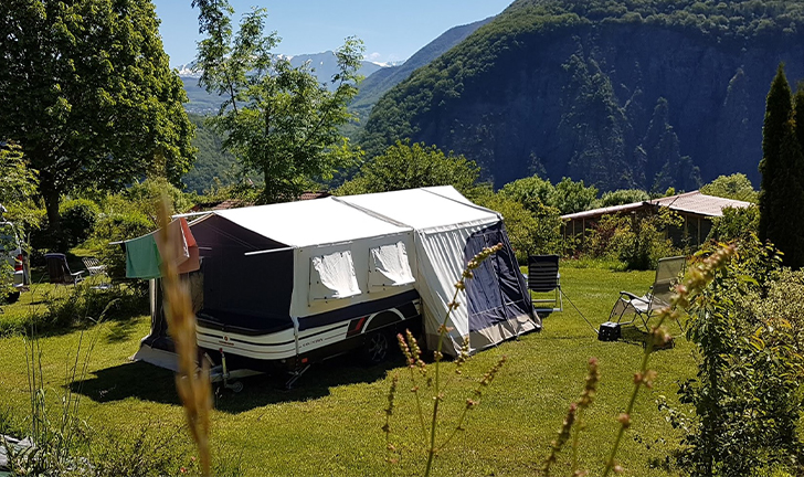 Combi-Camp Country vouwwagen in de Franse Alpen