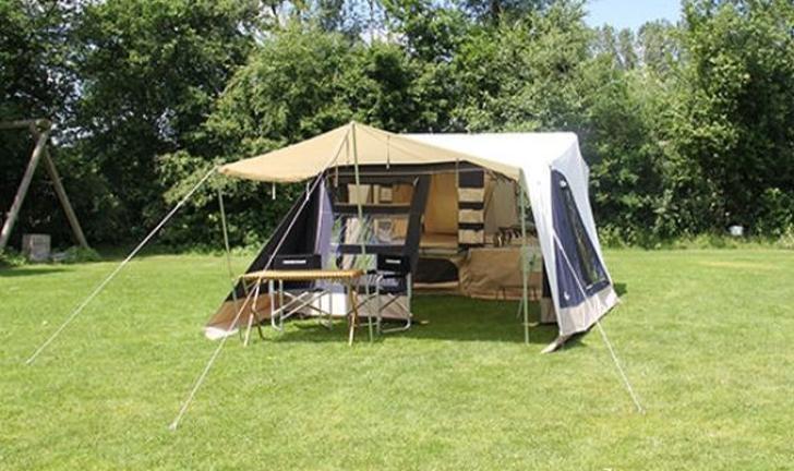 Aart Kok Adventure FLEXI vouwwagen op de camping