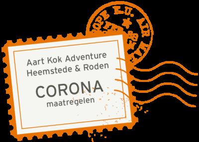 Corona maatregelen bij Aart kok Adventure en Combi-Camp