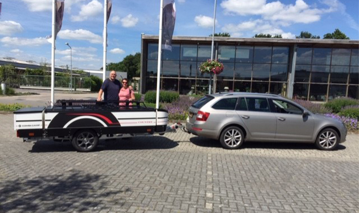 Combi-Camp Country Xclusive vouwwagen aflevering in Roden