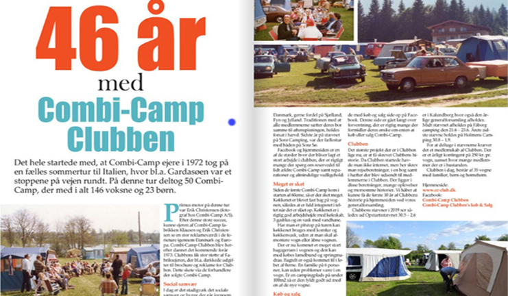 46 jaar Combi-Camp Club Denemarken