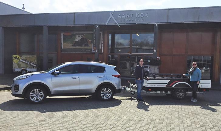 Combi-Camp Country vouwwagen aflevering bij Aart Kok Adventure Roden