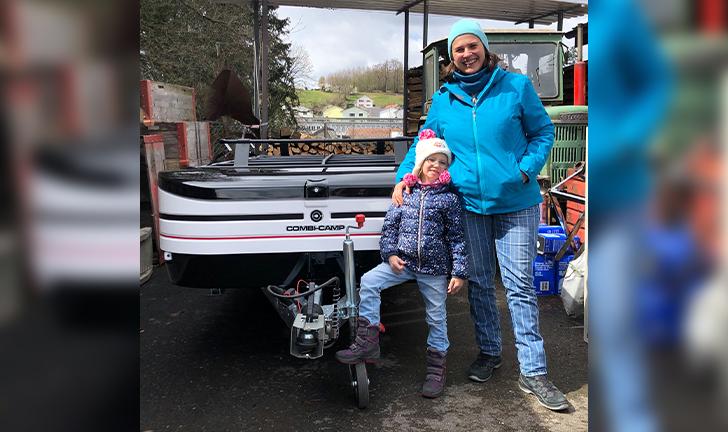 Combi-Camp Country vouwwagen in Zwitserland