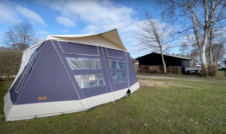 Winterkamperen met de Combi-Camp Country vouwwagen met HEAT