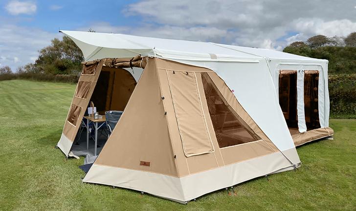 Combi-Camp Country vouwwagen EcoHemp beige doek